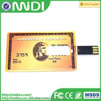 Credit card usb flash drive wholesale customize any usb drive bank card design OEM 2GB