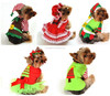 Girl Boy Pet Dog Cat Christmas Santa Elf Gift Fancy Dress Costume Outfit Clothes XS-XL