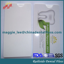 shred resistant dental card floss unwaxed and mint flavor 20meters floss thread holding