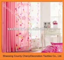 flower printed voile curtain polyester organza fabric good sale in 2012