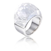 Kalen Hot stainless steel finger ring stone fancy engagement ring for men