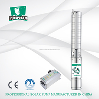 4TSSC 2015 PUMPMAN new stainless steel high head centrifugal dc solar submersible pump for irrigation