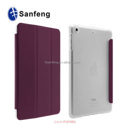 Cheap price high quality flip case for ipad mini4 tablet case / oem/odm available for ipad mini4 foldable pu case