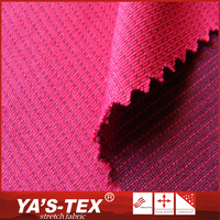 China suppliers eco-friendly recycled yarn polyester stretch two tone clothing fabric