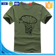 Screen printing cotton/polyester wholesale army green t-shirts/t shirts manufacturers in china