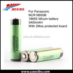 3400mah 18650 3.7v reachargeable li-ion battery pack flat top ncr18650b li-poly battery pack