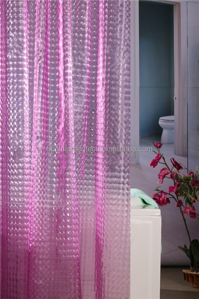 Waterproof Transparent High Quality Cheap Peva Bathroom