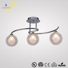 Hot sales ceiling lamp suspended ceiling light chandelier modern glass 3 lights ceiling lights GZ80052-3C