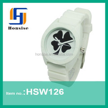 New Silicone Clover Jelly Watch flex band watches with interchangeable removing watch band
