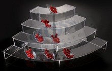 Unique clear acrylic sweet/ fruit display specializes in KTV/Party/Hotel