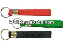 custom silicone keychain with metal ring in cheap price and fast delivery
