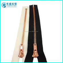 Factory sale directly 3# Rose Gold teeth close end metal zipper for pocket or bag