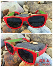 latest fashion skateboard wood sunglasses china with lower MOQ and price