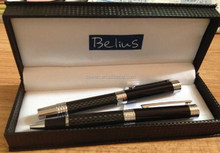 2015 HOT SALE--Senior carbon fiber pen set with logo,customiz metal pen with pen case