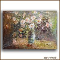 100% handmade beautiful fresh cut flower ceramic flower pot painting designs canvas fabric painting