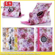 hot selling 360 Rotating case for ipad flip stand pu leather case