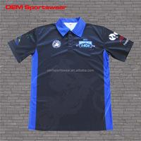 Black blue motocross jerseys custom racing shirts for men