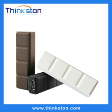 Chocolate slim powerbank 2600mah,mobile charge battery for smart phone