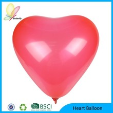 2015 High Quality Customized Dimension Colorful Wedding Latex Heart Balloon