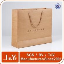 luxury custom fashion printed Shopping Cloth Paper Packing Bag