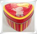 Forma de corazón hermoso de estaño puede, joyas caja de regalo, chocolate caja de la lata