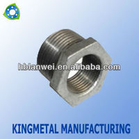 Hot dipped/electric Galvanized Malleable iron Pipe Fitting bushing