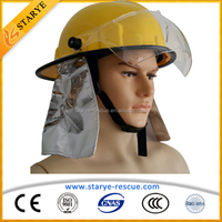 EN443 Firefighting Used High Quality CheapPrice Anti Flame Fire Helmet