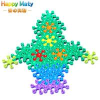 Hexagon Flower Plastic Snowflake Blocks Toys For Kids Baby Children Creative Educational DIY Intelligent Toy