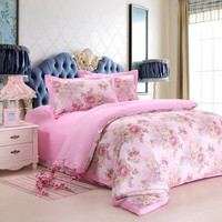 100% cotton sateen bedding fabrics embroidery design bed sheet bedsheet egyption cotton with latest design and cheapest price