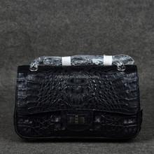 real crocodile classic chain crossbody bag_exotic handbag_caiman croco bag