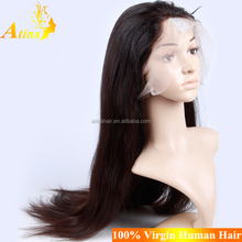Top Quality Cambodian Straight Virgin Human Hair Wigs Cheap 120% Density Small Cap Full Lace Wig