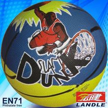 good new official size new style rubber made rubber basketball manufacturer