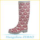 novo estilo mulher botas da moda por atacado pink camo botas de chuva com cíngulo