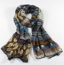 2015 new fashion multicolor flower print soft scarf