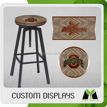 Top quality top sell fashion new wooden promotional bar stool