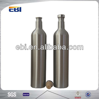 Aluminum plum brandy bottle