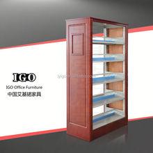 IGO-032W Good Quality Office Furniture metal library or book store portable bookshelf