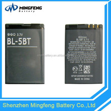 Rechargeable BL-5BT Battery Manufacture for Nokia 2600c/2608/7510a/7510s/N75