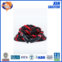 30mm black color with red mark line battle rope