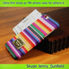 ultra thin colorful strips pc + leather skin MK case for iphone 6 plus 4.7, for iphone 6 designer case MK