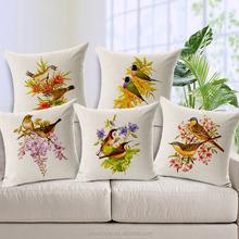 最高品質の動物鳥のコットンリネン東洋クッションカバー卸売