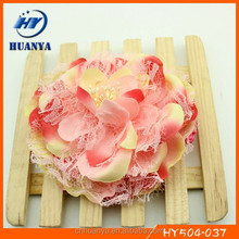 Latest lovely elastic knit band artifical flower infant headbands