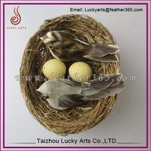 Jiangsu Lucky Arts best price sale artificial feather bird