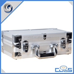 fashionable silver heavy duty foam-lined aluminum instruments case