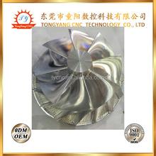 cnc machining aluminum compressor impeller/stainless steel compressor impeller