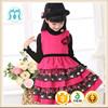 Autumn winter vest woolen children dress ruffles baby girl woolen dress winter 3 years old girl dress