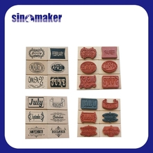 custom DIY monthly rubber wood stamps for craft, card making, and promotional gift