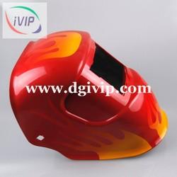 Flame film water transfer half helmet, scooter helmet, motorcycle helmet AP1057