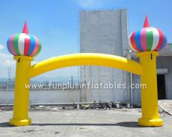 Inflatable arch with balloons,Start inflatable gate P1007