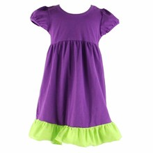 2015 new arrival summer boutique one piece girls party lime dresses
